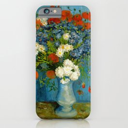 Vincent Van Gogh Vase With Cornflowers And Poppies iPhone Case