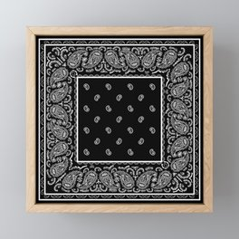 Classic Black Bandana Framed Mini Art Print