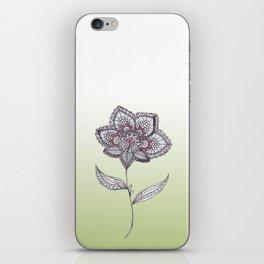 Muted Flower Design iPhone Skin