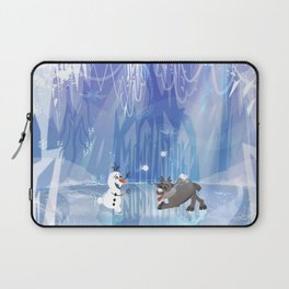 """Olaf and Sven on ice""  Laptop Sleeve"