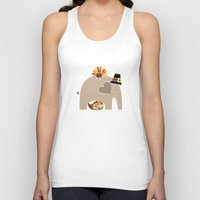 thanksgiving Tank Tops featuring Happy Thanksgiving Elephant by Elephant Love