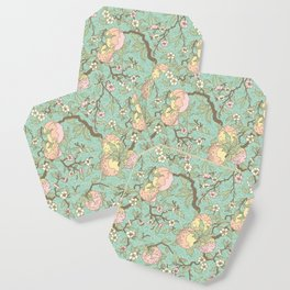 Peaches and Blossoms Coaster