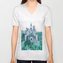 Hilltop Castle Unisex V-Neck