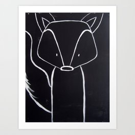 No. 001 - The Fox (Modern Kids & Nursery Art) Art Print