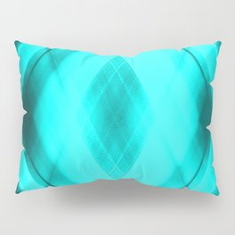 Hot triangular strokes of intersecting sharp lines with heavenly triangles and stripes. Pillow Sham