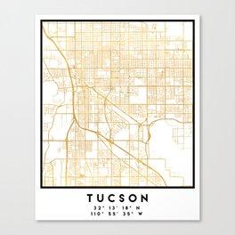 TUCSON ARIZONA CITY STREET MAP ART Canvas Print
