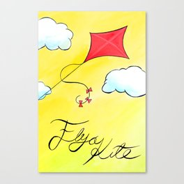 Let's Go Fly a Kite painting (part 2 of 2) Canvas Print