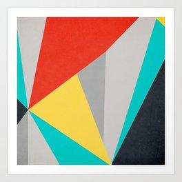 Aggressive Color Block Art Print