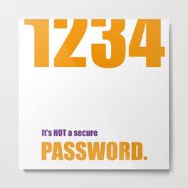 Password Big Bang Metal Print