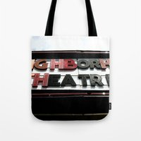 theatre Tote Bags featuring Theatre by Caitlin Victoria Parker