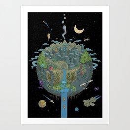 Carved Planet Art Print