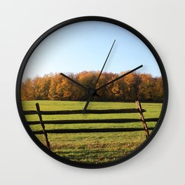 Knox Park Leaning Fence Wall Clock