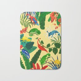 Nine Chameleons Hiding in the Tropics Bath Mat
