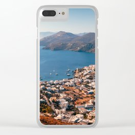 Leros Island Landscape Clear iPhone Case