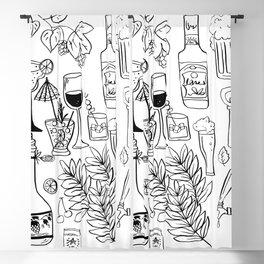 Alcohol Doodles Blackout Curtain