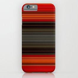 Sunset Orange and Grey Stripes iPhone Case