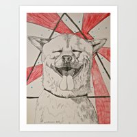 doge Art Prints featuring The Doge by Caesarie