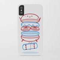 street iPhone & iPod Cases featuring Street burger  by SpazioC