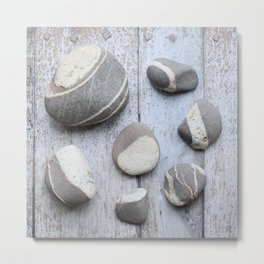 Clovelly Pebbles Metal Print