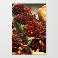 chile Canvas Prints featuring Chile Peppers by 4364
