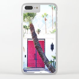 That New Pink Door Palm Springs Clear iPhone Case