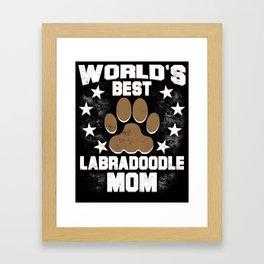 World's Best Labradoodle Mom Framed Art Print