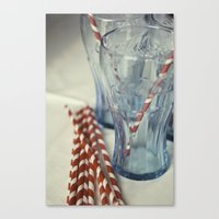 coca cola Canvas Prints featuring Coca~Cola by Heather McGuire