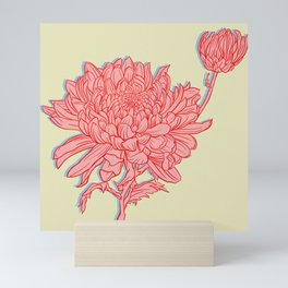 Chrysanthemum in Pink Mini Art Print