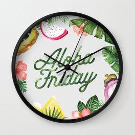Aloha Friday! Wall Clock