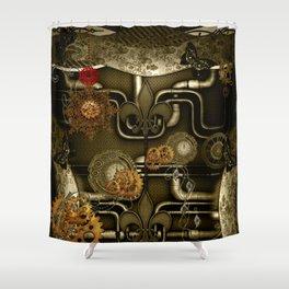 Wonderful noble steampunk design Shower Curtain