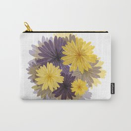 Purple and yellow flowers Carry-All Pouch