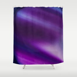 Purple Blue Cool Tone Geode Rock Stone Crystal Fine Art Print Shower Curtain
