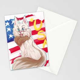 AMERICAT THE HERO Stationery Cards