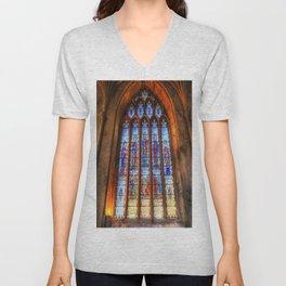Bath Abbey Stained Glass Window Unisex V-Neck