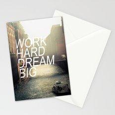 Work hard dream big Stationery Cards