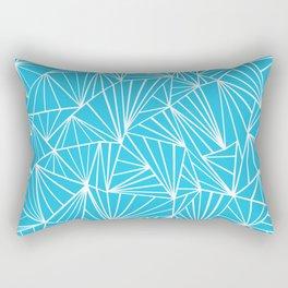 Ab Fan Electric Blue Rectangular Pillow