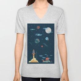 SPACE poster Unisex V-Neck