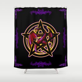 Dragon Pentacle Fantasy Art Shower Curtain