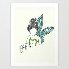 Tinkerbell Zen Tangle Art Print