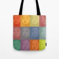 kiki Tote Bags featuring My KiKi by ake mikaele