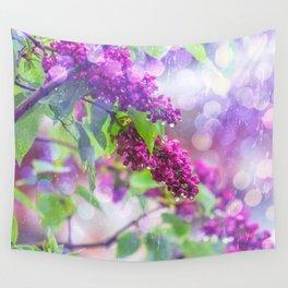 Spring rain Wall Tapestry
