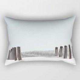 Linear Winter Rectangular Pillow