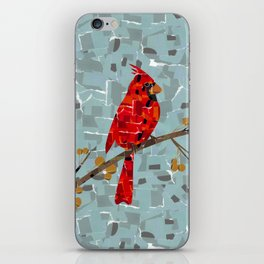 Red Cardinal Collage iPhone Skin