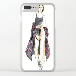 Kimono Swag Clear iPhone Case