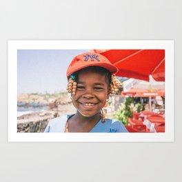 Cape Verde Girl Art Print