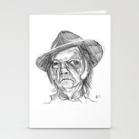 neil gaiman Stationery Cards featuring Neil Young by Mark T. Zeilman