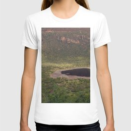 El Sod Extinct Volcano Crater Lake Landscape Ethiopia T-shirt
