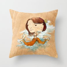 double you waves Throw Pillow