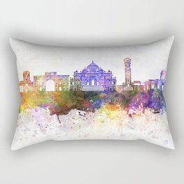 Ahmedabad skyline in watercolor background Rectangular Pillow