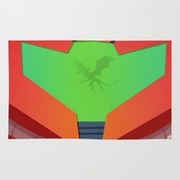 metroid Area & Throw Rugs featuring Vector Metroid by LoweakGraph